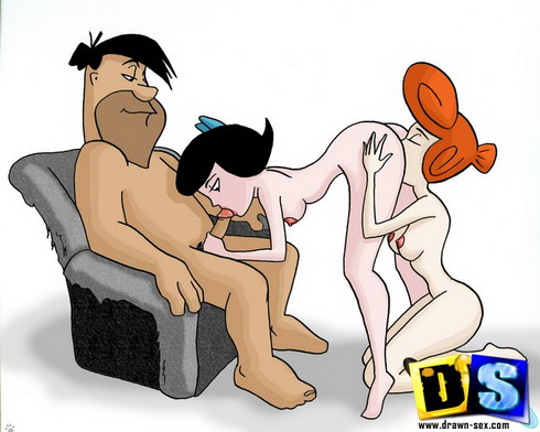 Toon club with Flintstones porn