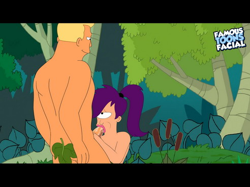 Famous toons facial cartoon with Leela