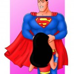 Classic American comics made by Leandro Oliveira - Supergirl Porn Superman Porn
