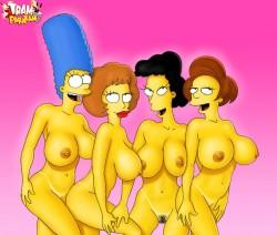 Flintstones and Simpsons toons porno